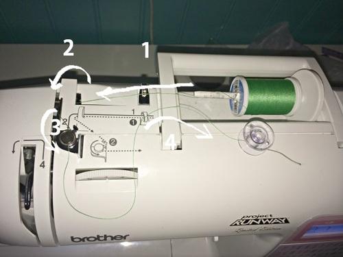 how to thread a sewing machine bobbin