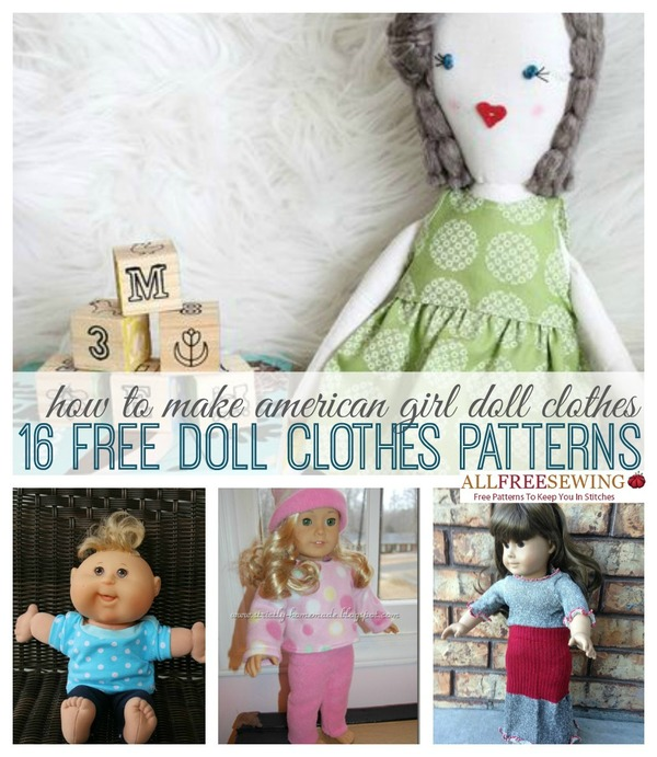 Girl doll clothes 16 free doll clothes patterns allfreesewing com