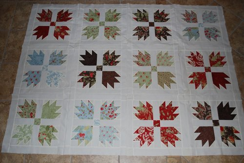 Vintage Inpsired Bear Claw Quilt
