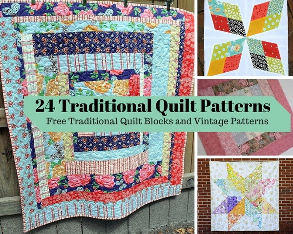 Traditonal Quilt Patterns: Free Vintage Ideas