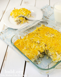 Hash Brown and Bacon Breakfast Casserole
