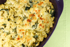 Mom's Baked Chicken and Spinach Pasta
