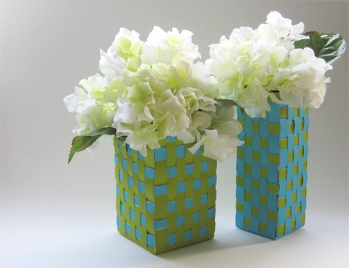 Weave Vases from Mlik Cartons