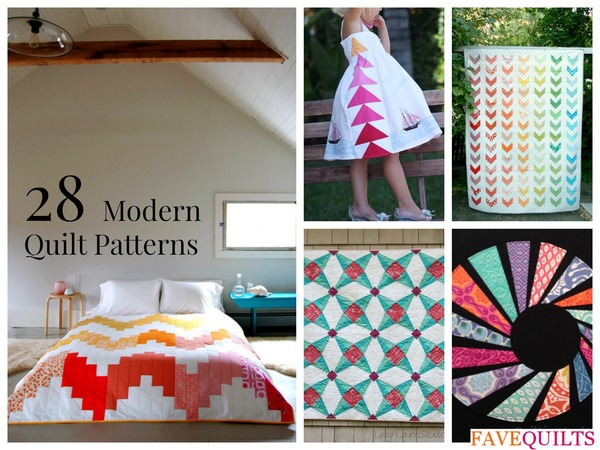 28 modern quilt patterns and modern quilt ideas for Modern house quilt pattern