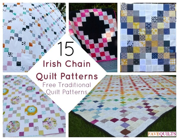 Irish Double Chain Quilt Pattern Free : Irish Chain Quilt Patterns: Free Traditional Quilt Patterns FaveQuilts.com