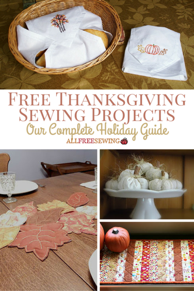 Free thanksgiving sewing projects complete holiday