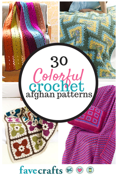 Colorful Crochet Afghan Patterns