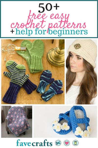 50 Free Easy Crochet Patterns and Help for Beginners