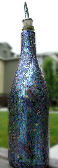 Faux Dichroic Glass Recycled Bottle