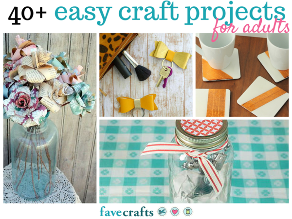 easy fun craft ideas for adults 44 easy craft projects for adults favecrafts 7700