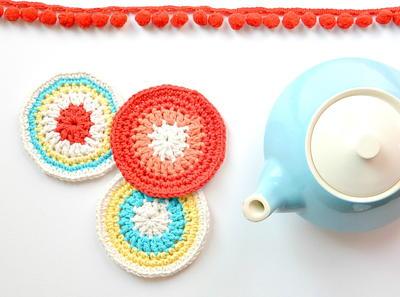 Modern Vintage Crochet Coasters