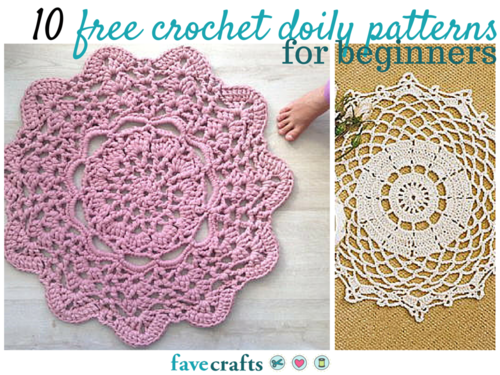 Quick And Easy Beginner Crochet Patterns : 10 Free Crochet Doily Patterns for Beginners FaveCrafts.com