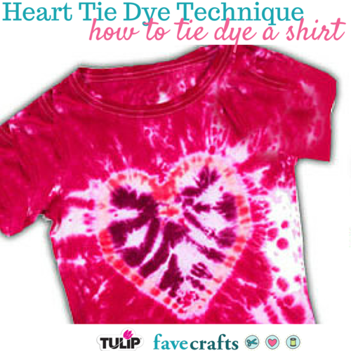 How to Tie Dye a Shirt: Heart Technique