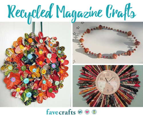 Top 10 Reycled Magazine Crafts