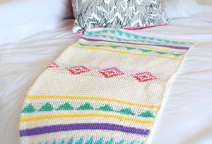 Modern Summer Camp Crochet Blanket