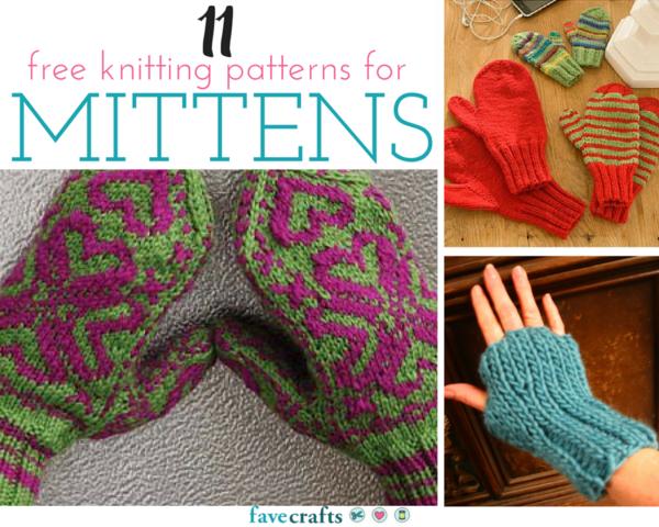 11 Free Knitting Patterns for Mitterns
