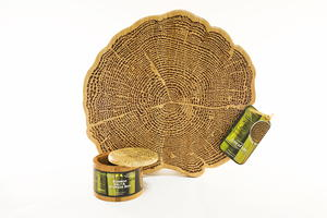 Totally Bamboo Tree of Life Cutting Board and Salt Box Set
