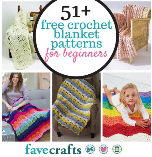 51 Free Crochet Blanket Patterns for Beginners