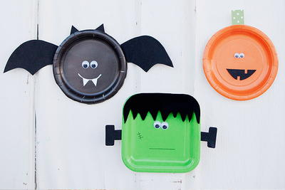 Ghoulish Paper Plates