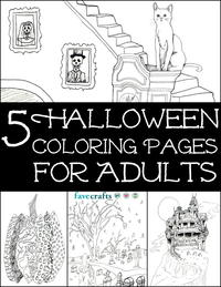 5 Halloween Coloring Pages for Adults