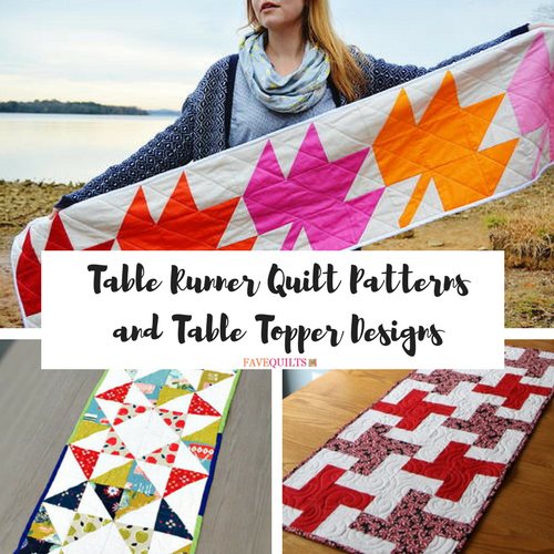 Christmas Tree Table Runner Quilt Pattern: 30+ Free Table Runner Quilt Patterns And Table Topper