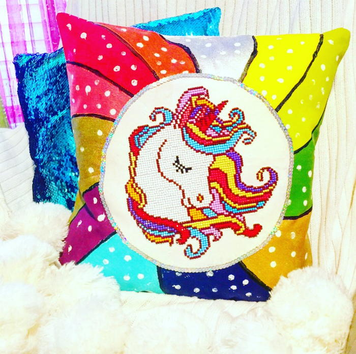Leisure Arts Unicorn Pillow