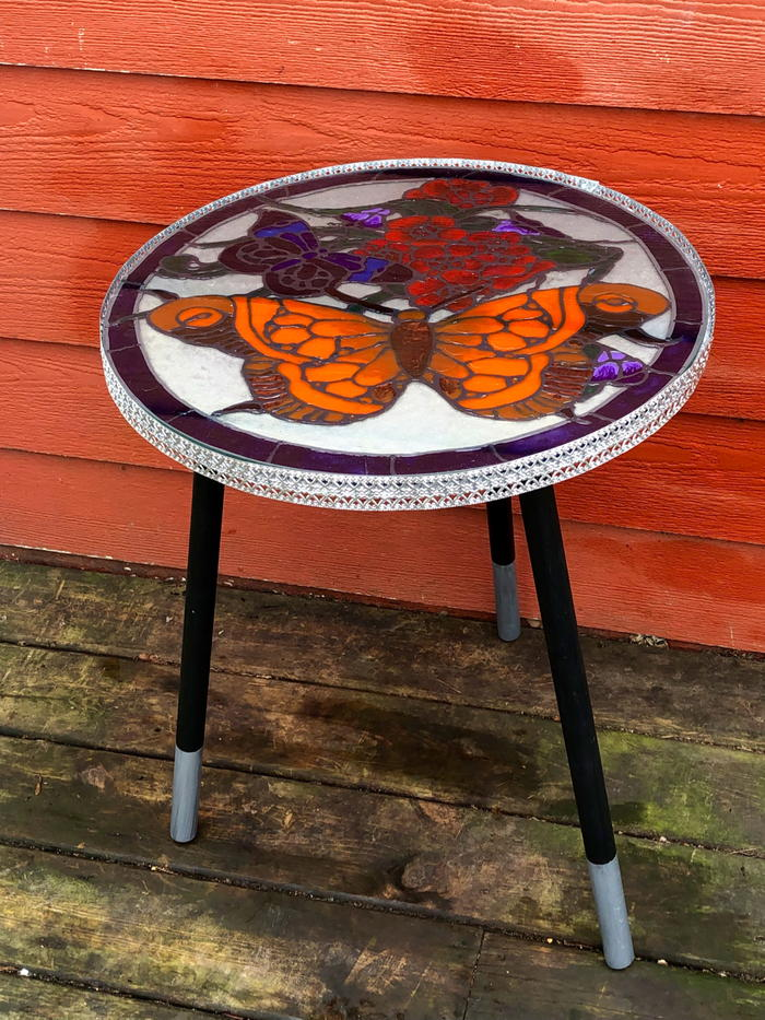 Fabulous Faux Stained-Glass Table