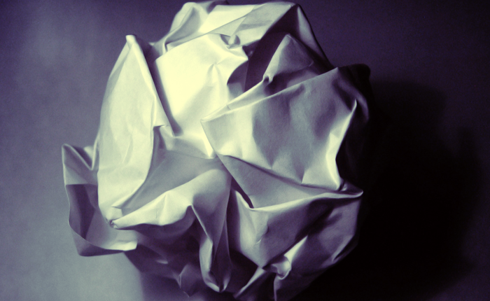 A crumpled paper ball.