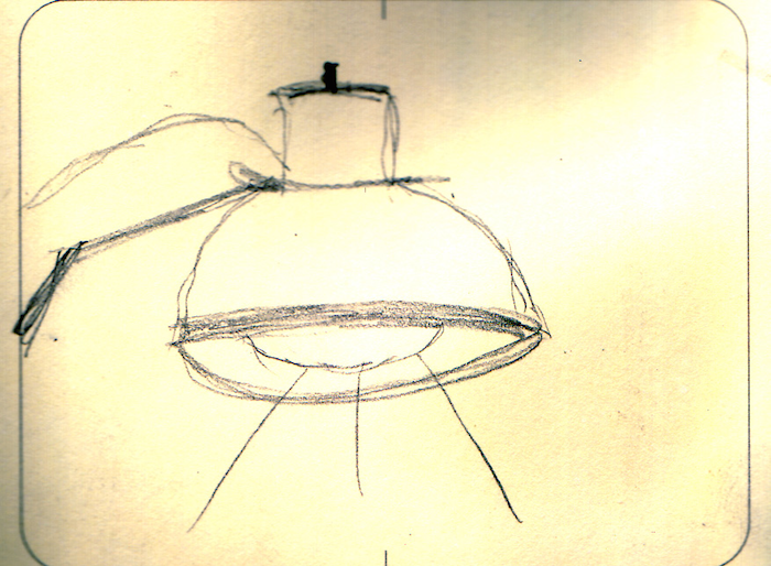 Sketch of a lamp.