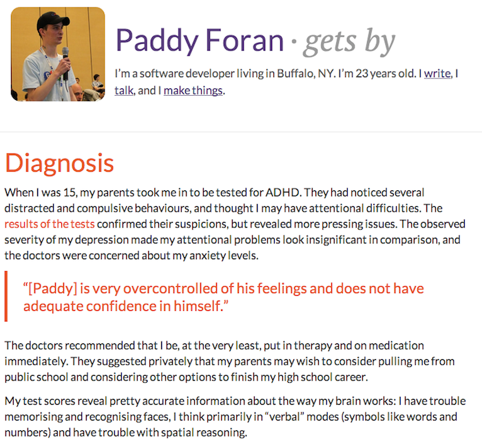 Screenshot of Paddy Foran's interview for gets by.