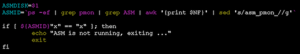 check if ASM is running