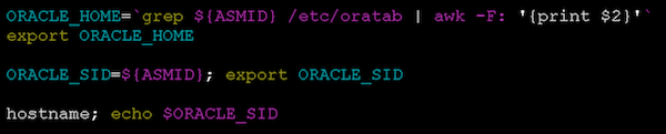 parse ASM ORACLE_HOME
