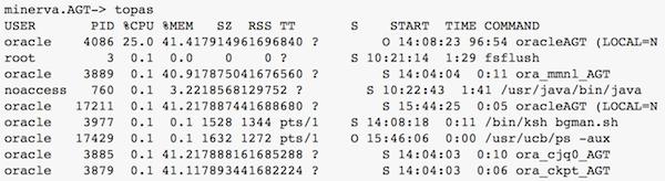 tkprof step 1 get PID on database server