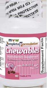 MVW Complete Formulation Chewables – Bubblegum