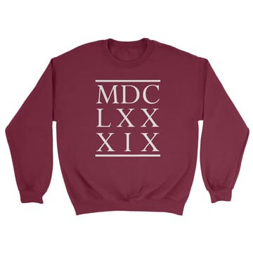 1689 BCF Roman Numerals - Crewneck Sweatshirt