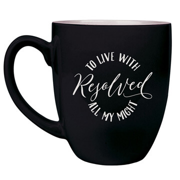 Resolved To Live Bistro Mug