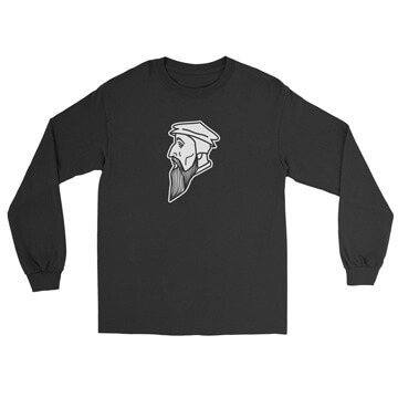 John Calvin Profile Long Sleeve Tee