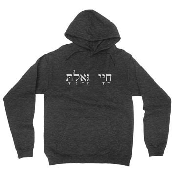 You Have Redeemed My Life (Hebrew) - Hoodie