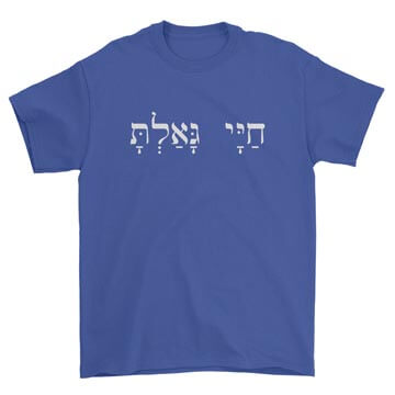 You Have Redeemed My Life (Hebrew) Tee