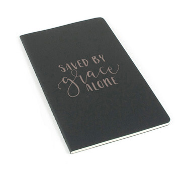 Saved By Grace Alone Laser Etched Moleskine Journal