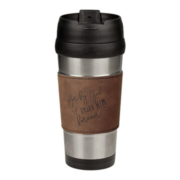 Glorify God Leatherette Stainless Steel Travel Mug