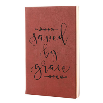 Saved By Grace Leatherette Hardcover Journal