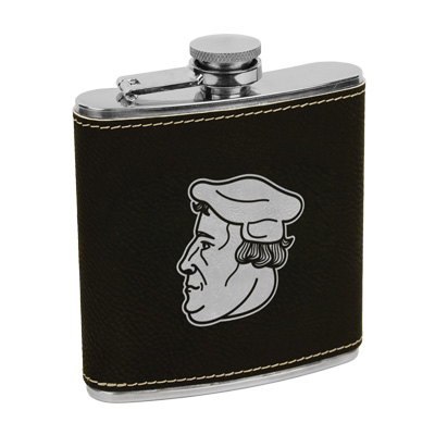 Martin Luther Leatherette Flask Brown