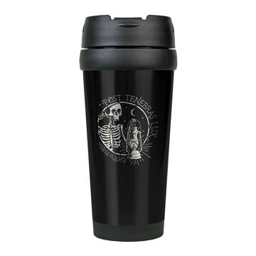 Post Tenebras Lux Stainless Steel Travel Mug