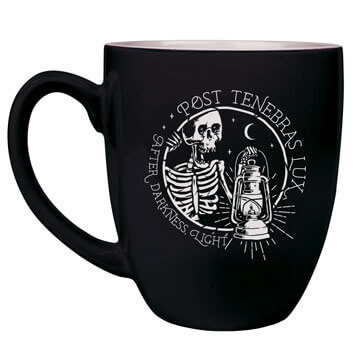 Post Tenebras Lux Bistro Mug