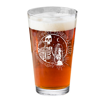 Post Tenebras Lux Pint Glass