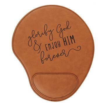 Glorify God And Enjoy Him Mouse Pad