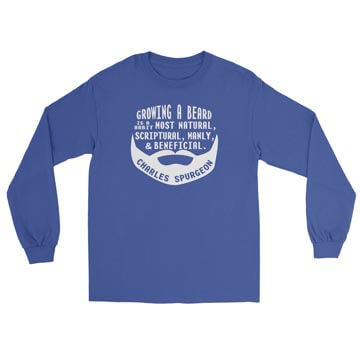 Growing a Beard - Spurgeon - Long Sleeve Tee