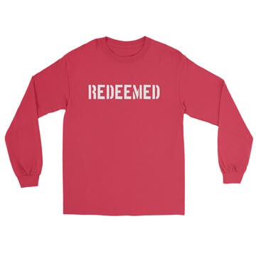 Redeemed (Stencil) - Long Sleeve Tee