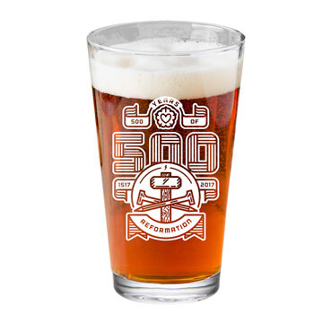 500 Years of Reformation Pint Glass